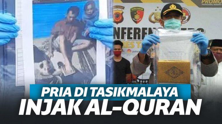 Buktikan Diri Bukan Pencuria, Viral Pria di Tasikmalaya Sumpah Injak Al Quran