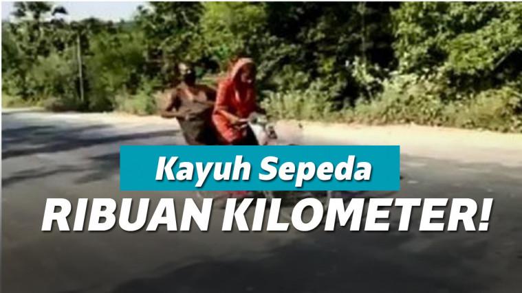 Remaja ini Rela kayuh Sepeda Ribuan Kilometer Sambil Bonceng Ayahnya yang Sakit! | Keepo.me