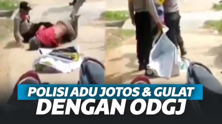 Viral 2 Polisi Adu Jotos Lawan Orang Dengan Gangguan Jiwa Gara-Gara Mudik | Keepo.me