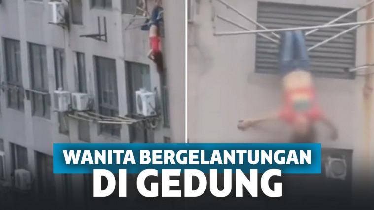Kronologi Wanita Bergelantungan di Atas Apartemen, Nyawanya Selamat Berkat Jemuran! | Keepo.me