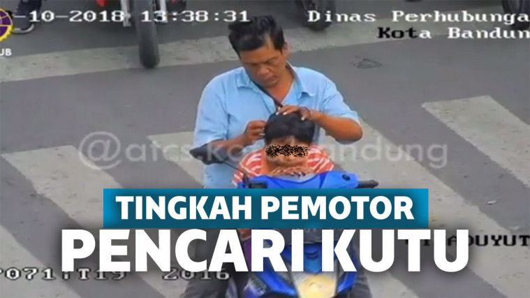 Kelakuan Pengendara Motor Cari Kutu di Jalan, Bikin Petugas Emosi | Keepo.me