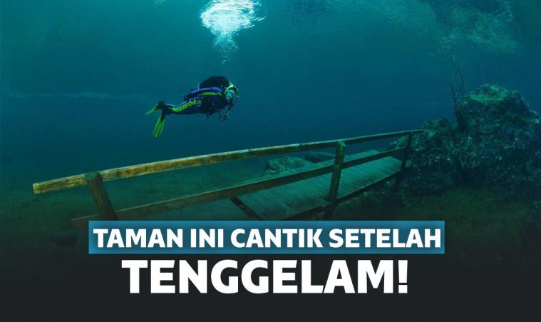 Nggak Nyangka, Setelah Tenggelam Taman Ini Malah Makin Cantik Lho! | Keepo.me