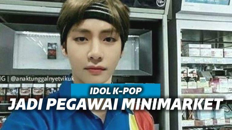 Layaknya Pegawai Sungguhan, 11 Editan Foto Seleb Korea Pakai Seragam Minimarket | Keepo.me