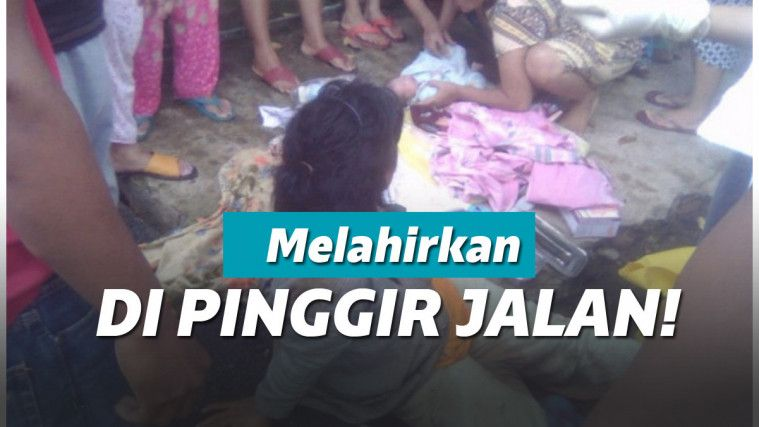 Video Viral Wanita Diduga Gangguan Jiwa Melahirkan Di Tepi Jalan! | Keepo.me