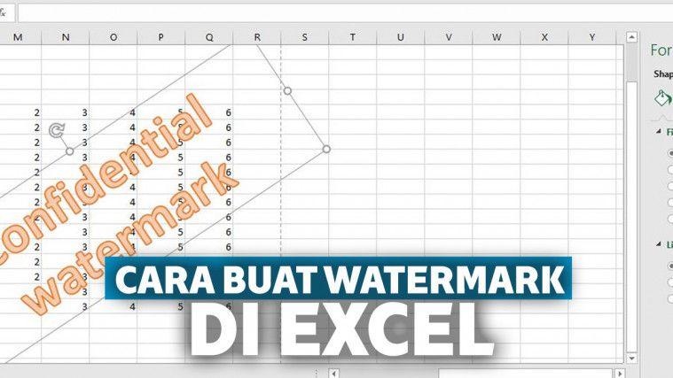 Cara Membuat Watermark Di Excel Dengan Tulisan Atau Logo