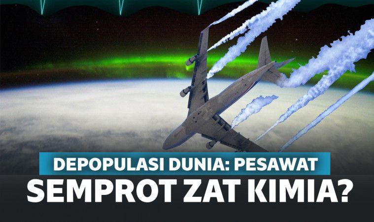 Depopulasi Dunia: Pesawat Semprot Zat Kimia Berupa Chemtrails di Angkasa (Project Cloverleaf)? | Keepo.me