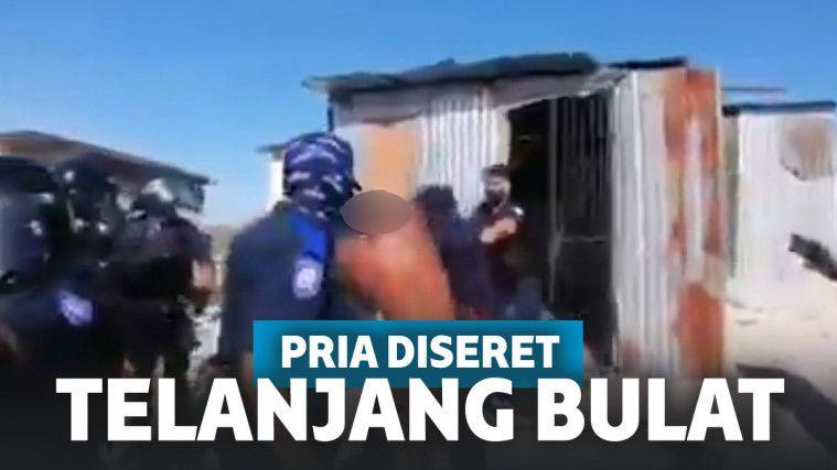 Ngawur! Polisi Seret Warga yang Lagi Mandi, Dibiarkan Telanjang Bulat di Depan Umum | Keepo.me