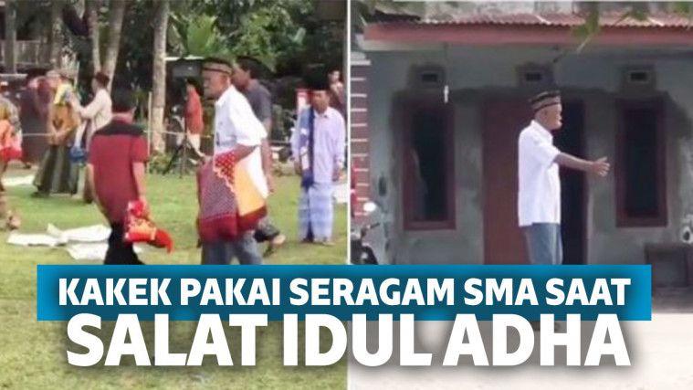 Viral Seorang Kakek Pakai Baju SMA Saat Salat Idul Adha, Kondisinya Bikin Sedih! | Keepo.me