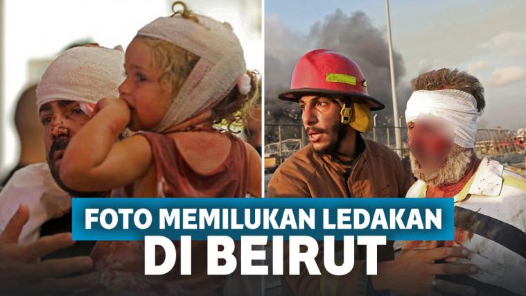 Dunia Berduka! Foto Memilukan Ledakan Dahsyat di Beirut, Langit Lebanon Seperti 'Terbelah' | Keepo.me