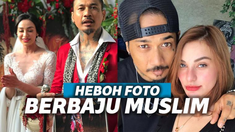 Unggah Gambar Jerinx Berbusana Muslim dan Pegang Alquran, Nora Alexandra Jelaskan Keyakinan Suaminya | Keepo.me