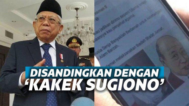 Sandingkan Foto Wajah Maruf Amin dan Kakek Sugiono, Netizen ini Dipolisikan GP Ansor | Keepo.me