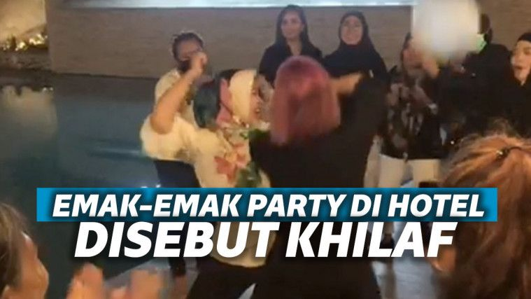 Viral Video Gerombolan Emak-emak Pool Party di Hotel, Satgas Covid: Mereka Khilaf | Keepo.me