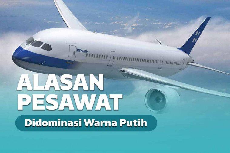 Kenapa Badan Pesawat Umumnya Berwarna Putih? Ini Alasannya