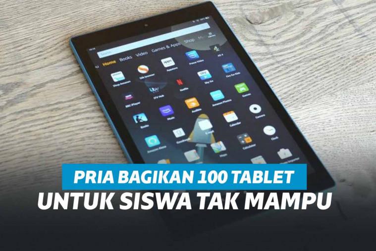 Berhati Malaikat, Pria Ini Bagikan 100 Tablet Android Untuk Siswa Kurang Mampu | Keepo.me