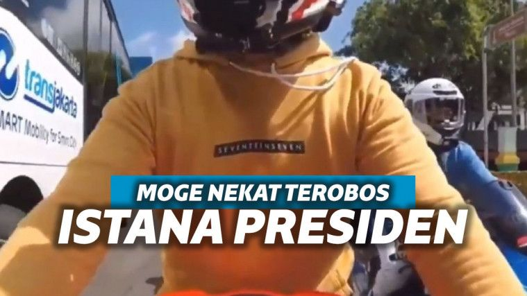 Aksi Pengendara Moge yang Viral Ditendang Paspampres, Karena Terobos Istana Kepresidenan | Keepo.me