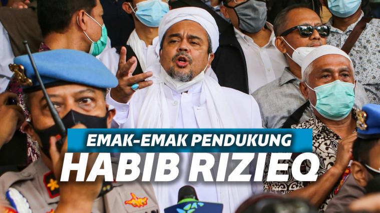 Rela Datang Demi Dukung Habib Rizieq Shihab di Pengadilan, Emak-emak: Jangan Takut Membela Kebenaran