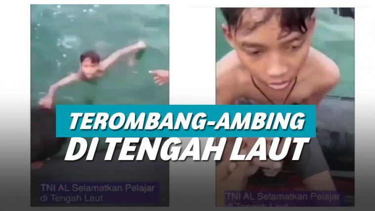 Viral Video TNI AL Selamatkan Bocah 14 Tahun yang Terombang Ambing Di Tengah Laut | Keepo.me