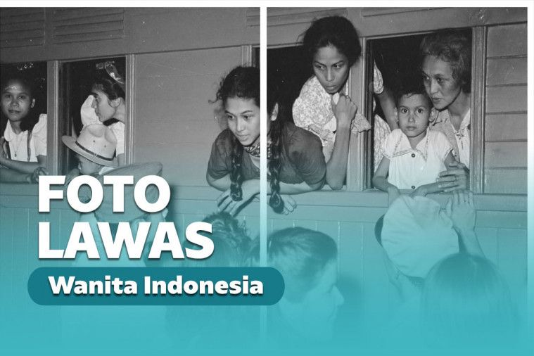Foto Lawas Wanita Cantik Indonesia Di Kereta Api