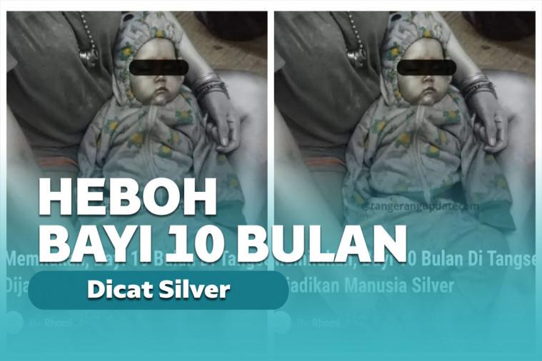 Bikin Geram! Bayi 10 Bulan Dicat Jadi Manusia Silver dan Diajak Ngemis | Keepo.me