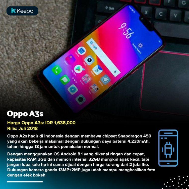 Oppo A3s hp di bawah 2 juta