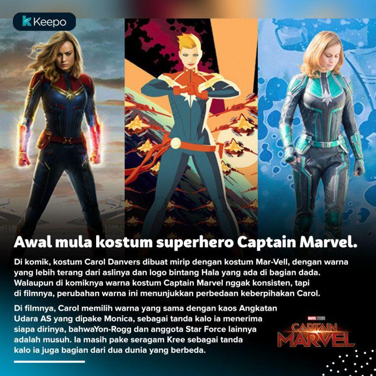 8 Perbedaan Captain Marvel Versi Komik Dan Filmnya