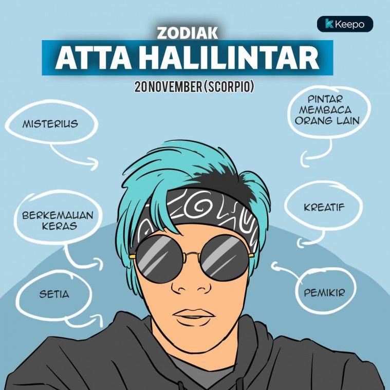 Ilustrasi zodiak Atta Halilintar