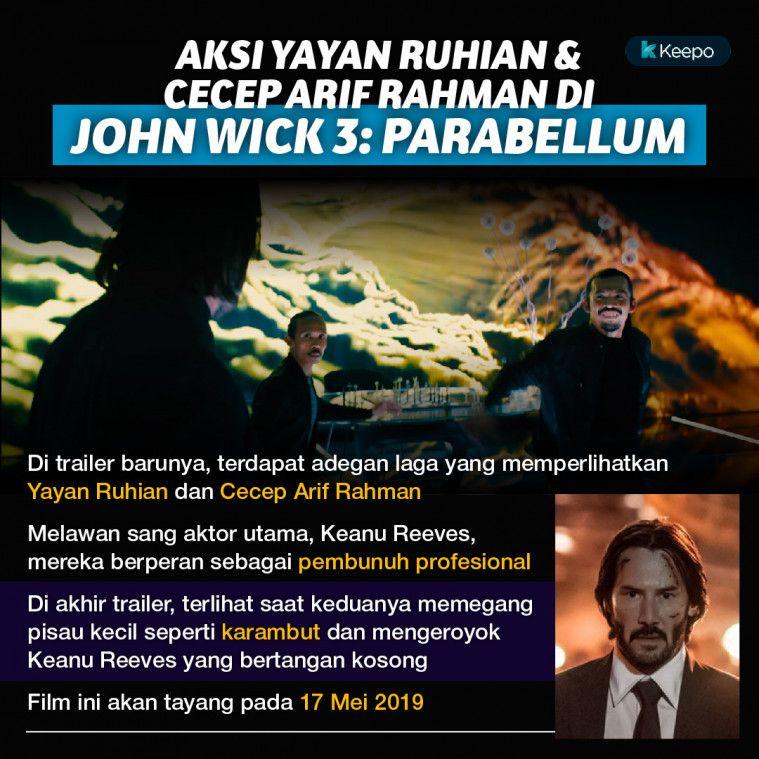 Yayan Ruhian Cecep Arif John Wick Chapter 3