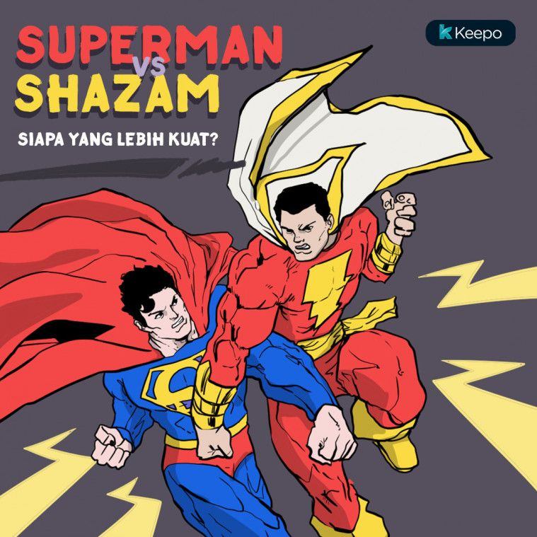 Shazam vs superman <a href='https://uzone.id/tag/superhero' alt='superhero' title='superhero'>superhero</a> dc