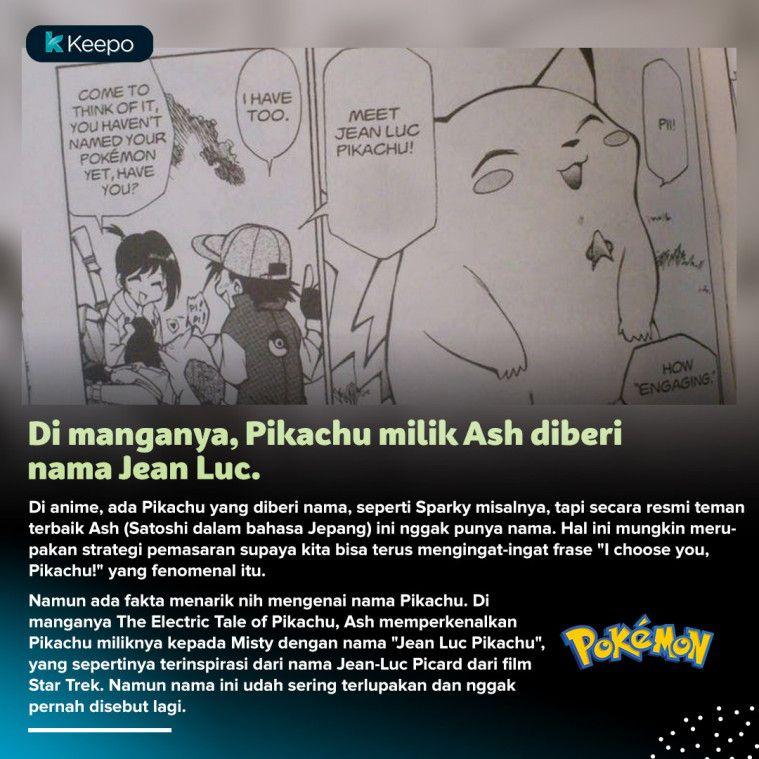 fakta menarik pikachu