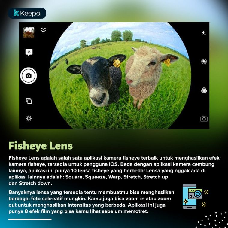 aplikasi kamera fisheye terbaik Fisheye Lens