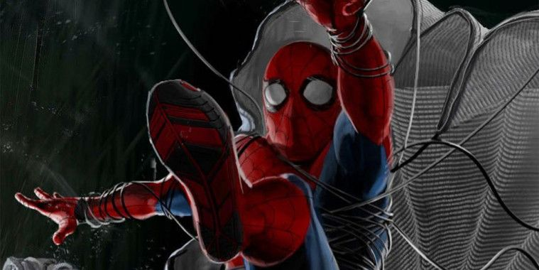 Kostum Canggih SpiderMan Parasut
