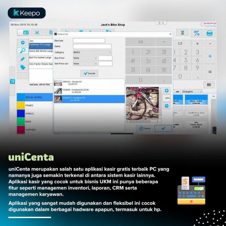 aplikasi kasir gratis terbaik PC uniCenta