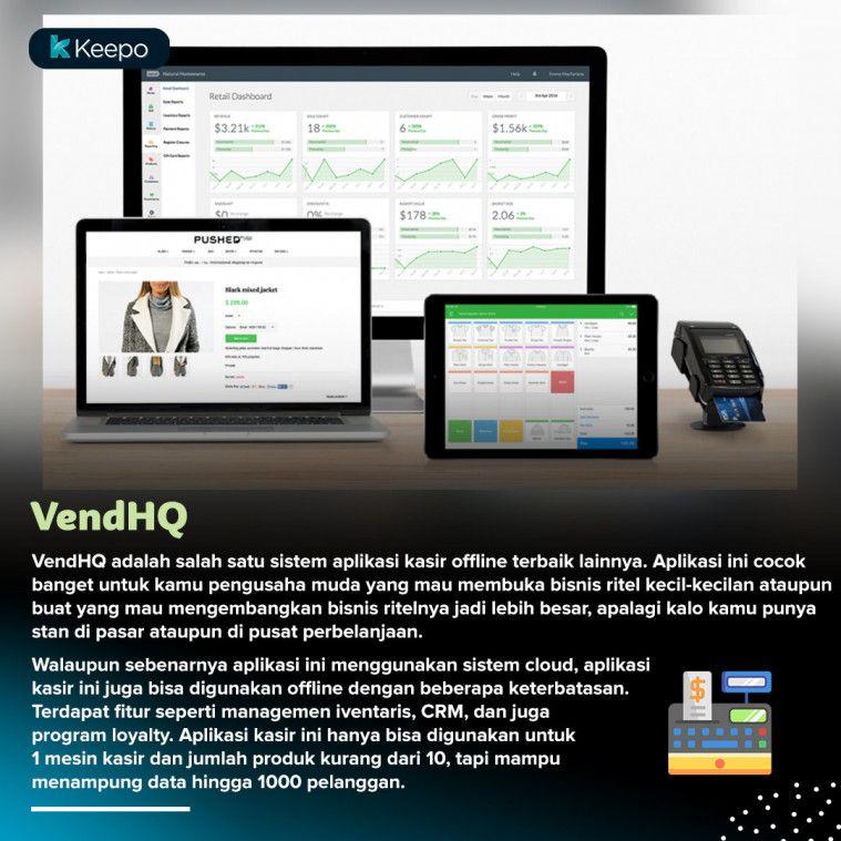 aplikasi kasir offline terbaik PC VendHQ