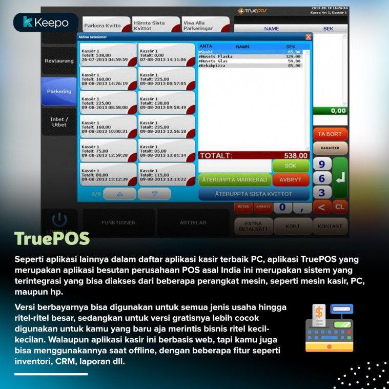 aplikasi kasir gratis terbaik PC TruePOS