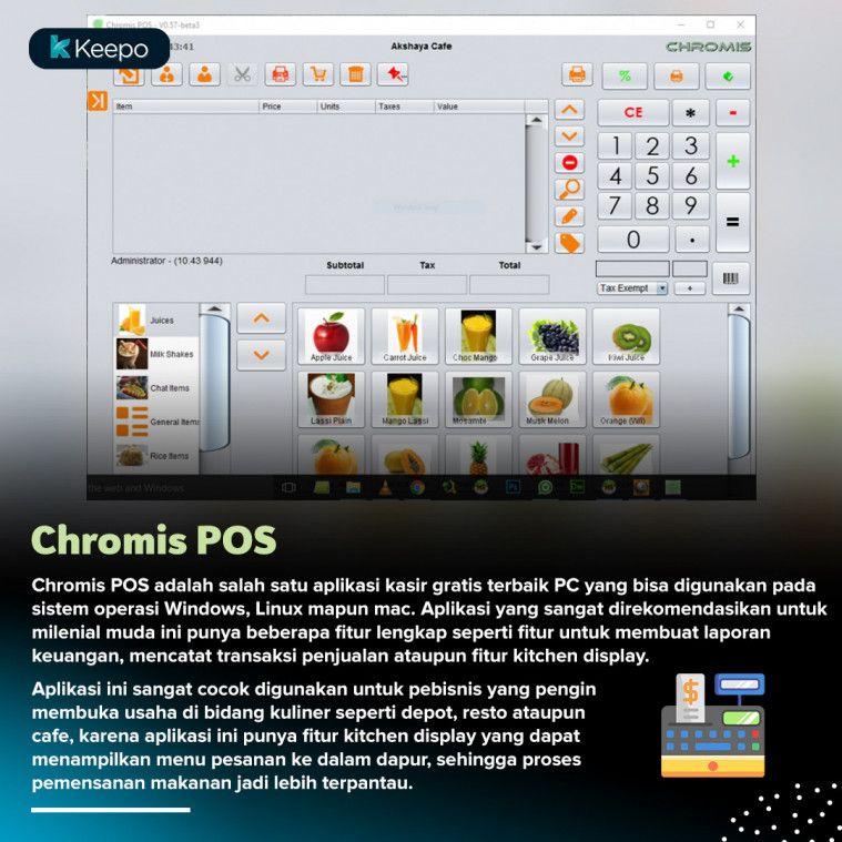 aplikasi kasir gratis terbaik pc Chromis POS