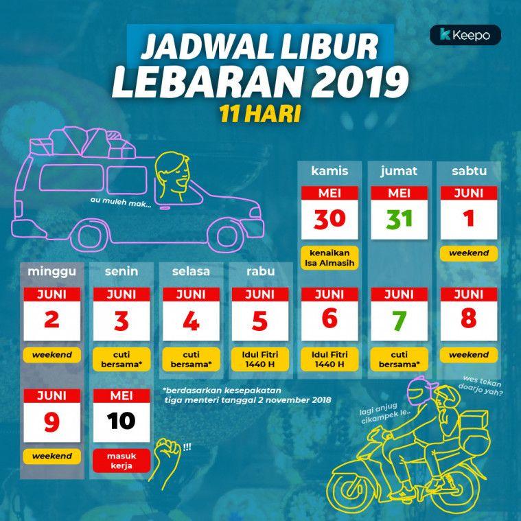 Jadwal Libur Lebaran 2019, Demi Hari Raya Yang Semarak
