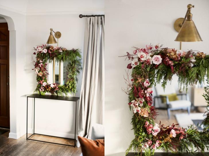 DIY cermin floral