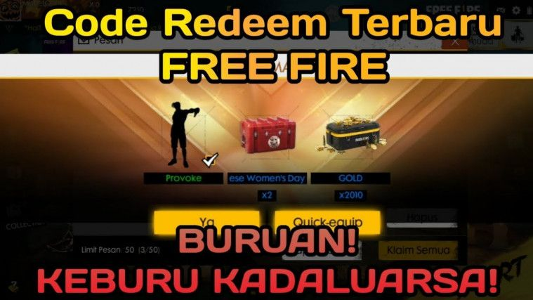 tukar kode redeem free fire
