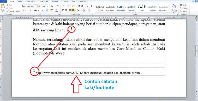 Contoh Footnote Makalah Materi Pelajaran 7