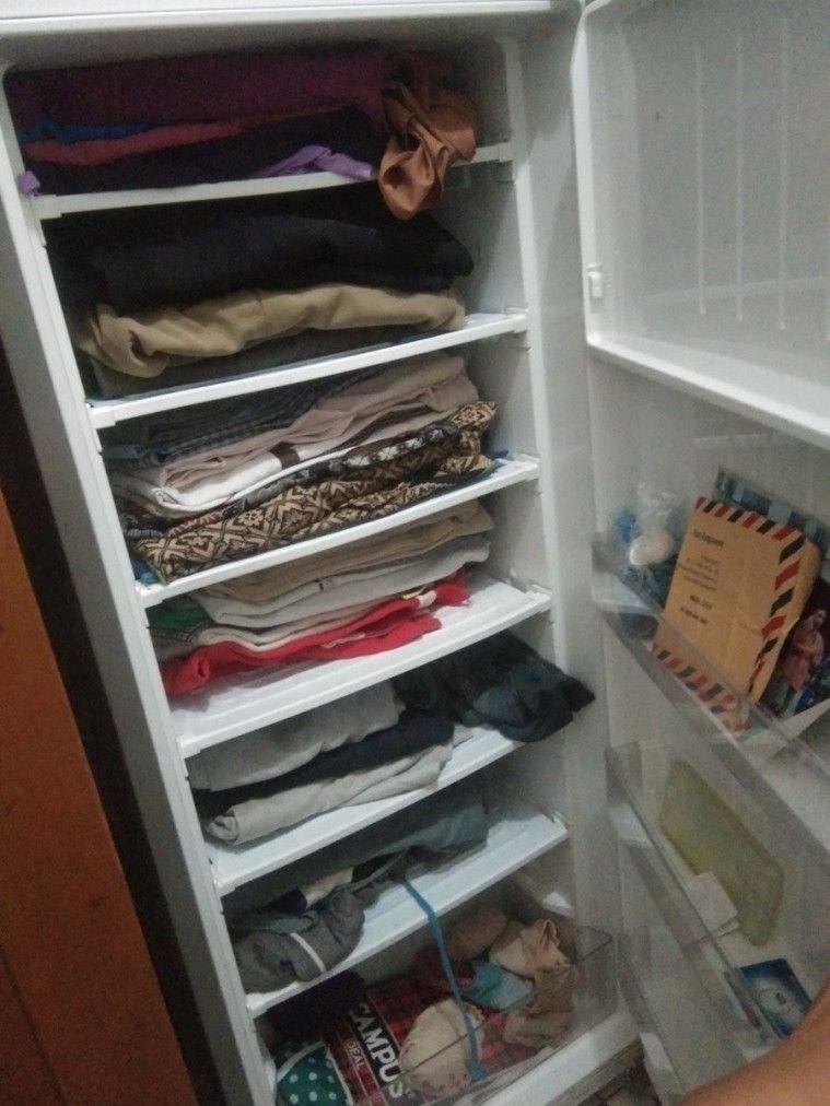 kulkas jadi lemari pakaian