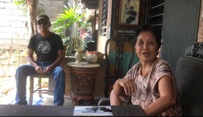 Potret Bung Karno dan Ni Luh Putu Sugianitri