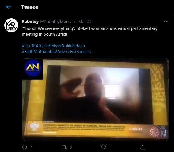 Pejabat di Afrika Selatan malu karena istrinya muncul tanpa busana saat ia sedang rapat virtual